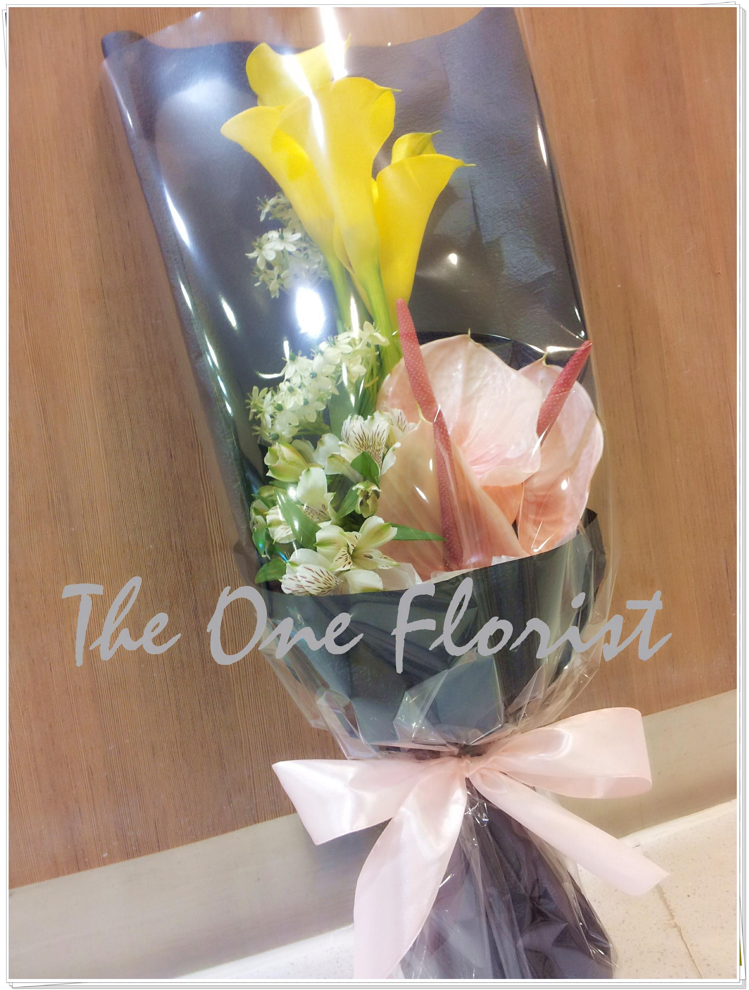 荷蘭馬蹄蘭粉紅掌花束 網上花店 (BQ-22)