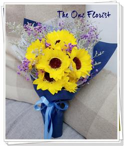 (K01)香皂花-向日葵花束