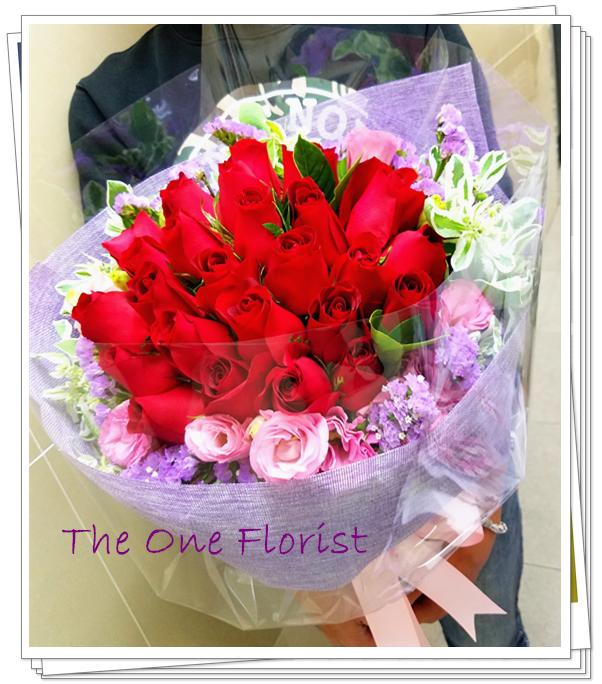 20枝紅玫瑰花束 網上花店 (BQ-133)