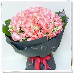 99枝粉紅玫瑰花束 求婚花束 (BQ-71)