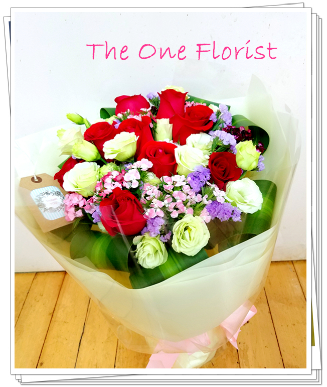 12枝紅玫瑰花束 網上花店 (BQ-103)