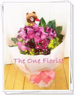 12枝紫玫瑰花束 網上花店 (BQ-73)