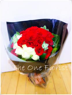 紅白玫瑰花束 網上花店 (BQ-40)