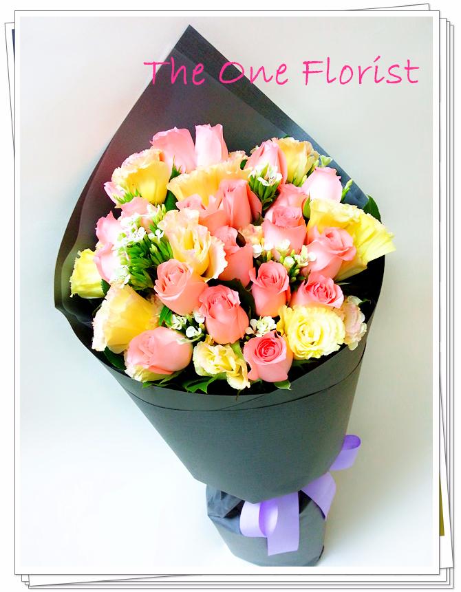 12枝粉紅玫瑰花束 網上花店 (BQ-77)