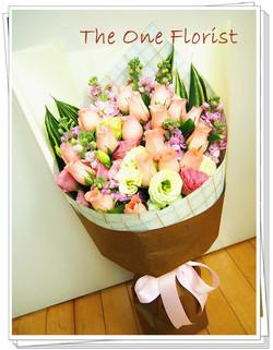20枝粉玫瑰花束 訂花花店(BQ-68)