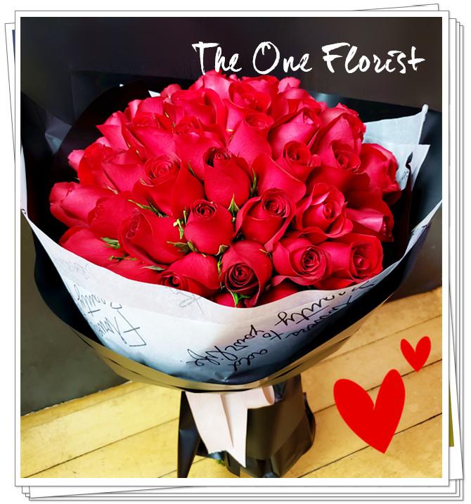 我愛你52枝玫瑰求婚花束 (BQ-131)