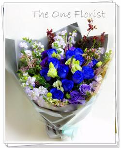 荷蘭藍玫瑰花束 網上花店(BQ-79)