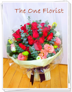 20枝肯雅雙色玫瑰 網上花店 (BQ-59)