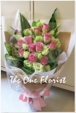 12枝紫玫瑰花束 網上花店 (BQ-08)