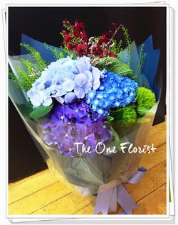 玫瑰繡球花束 網上花店 (BQ-121)