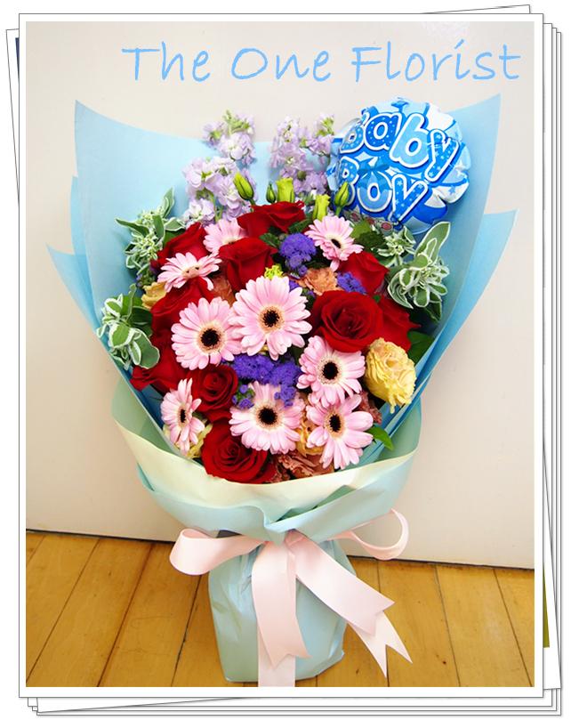 12枝玫瑰太陽花花束 網上花束 (BQ-54)