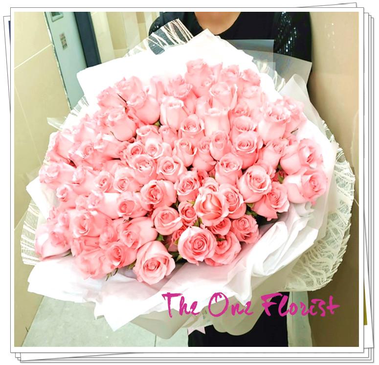 108支粉紅玫瑰求婚花束 (BQ139)