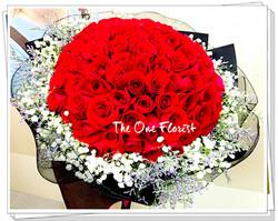 99支玫瑰求婚大花束 (BQ-129)