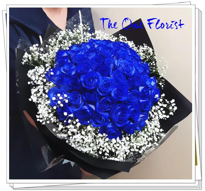 求婚花束52枝(荷蘭)藍玫瑰BQ-152