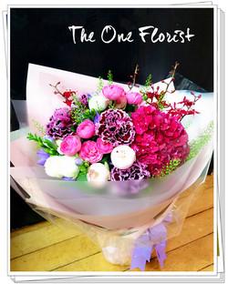 荷蘭繡球小玫瑰田園花束 (BQ-127)