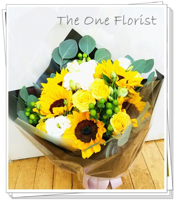 向日葵玫瑰花束 (GD-A11)