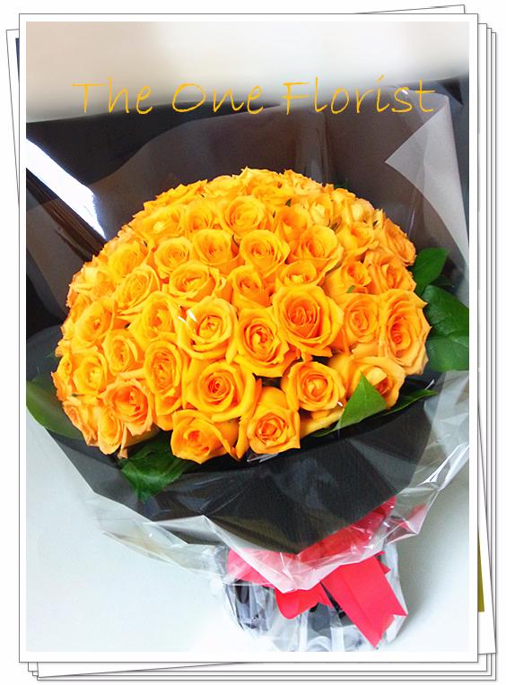 99枝橙玫瑰花束 求婚花束 (BQ-74)