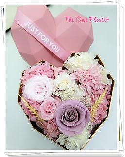 粉紅玫瑰保鮮花花盒.jpg