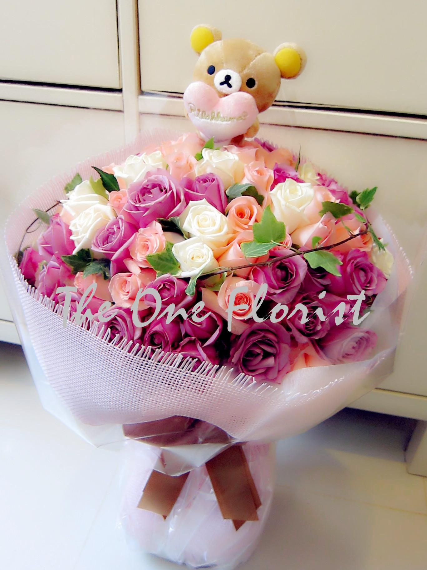 99枝玫瑰花束 網上花店 (BQ-14)