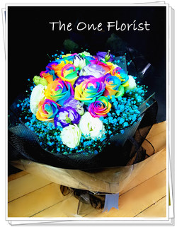 荷蘭Rainbow玫瑰花束 網上花店 (BQ-101)