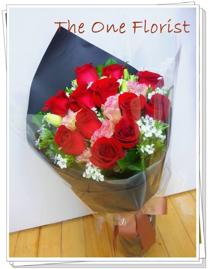 12枝紅玫瑰花束 網上花店 (BQ-56)