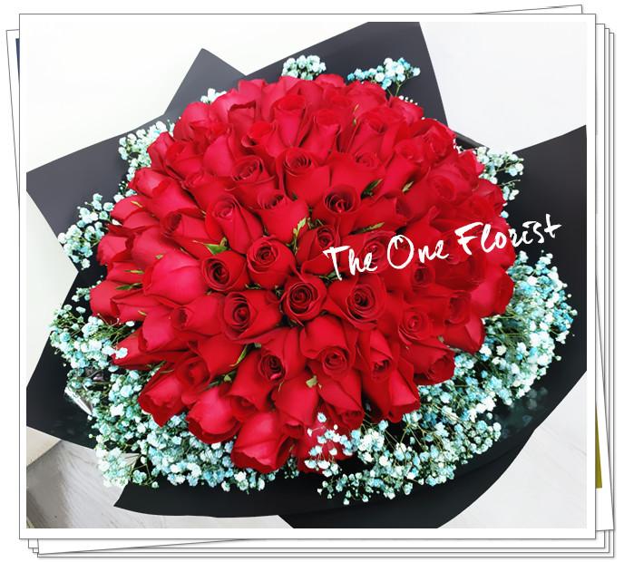 求婚花束99枝玫瑰大花束 BQ-141