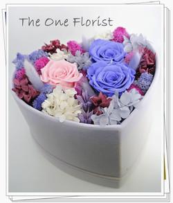 心形保鮮花花盒 JU-07