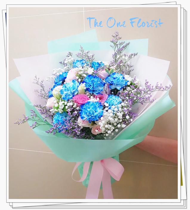 (MD-A06)母親節荷蘭藍色康乃馨花束