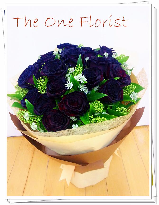 荷蘭黑玫瑰花束 網上花店 (BQ-44)