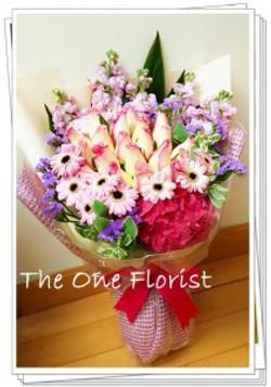 繡球玫瑰太陽花花束 畢業花束 (BQ-75)