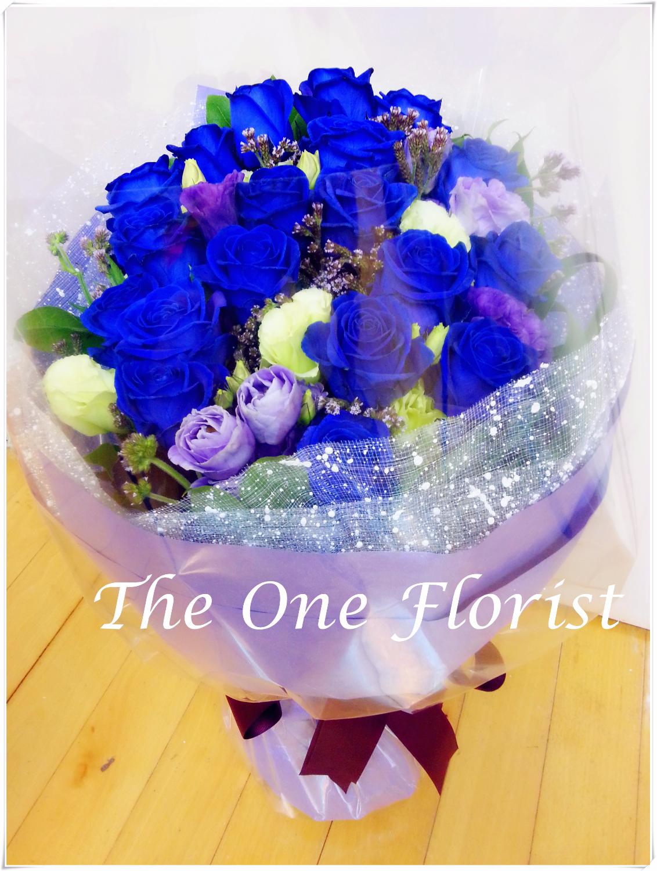 荷蘭藍玫瑰花束 網上花店 (BQ-42)