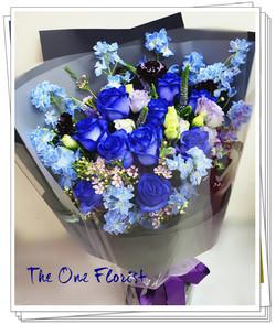 荷蘭藍玫瑰花束(BQ-160)