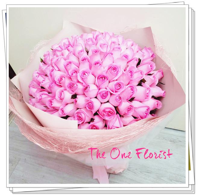 99枝粉紅玫瑰求婚花束BQ-150