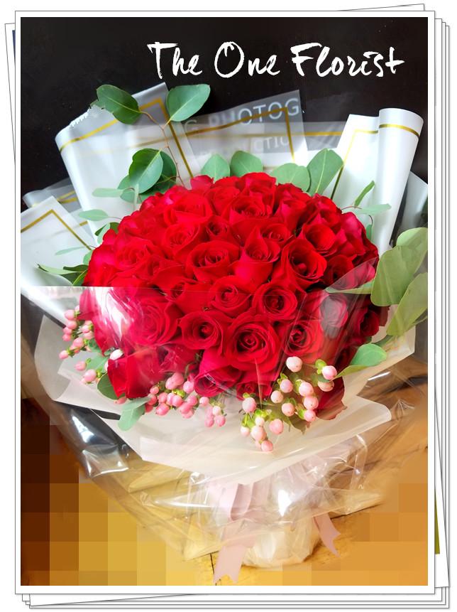 99枝紅玫瑰求婚花束 網上花店(BQ-124)