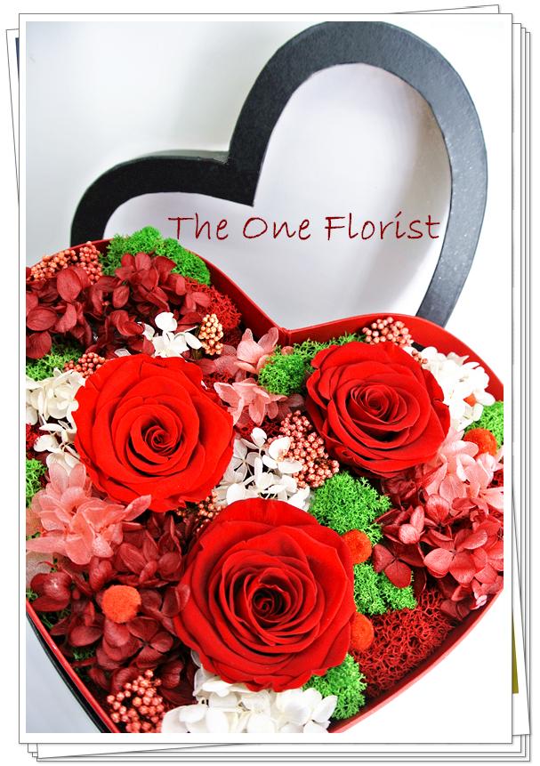 心形保鮮花花盒 JU-08