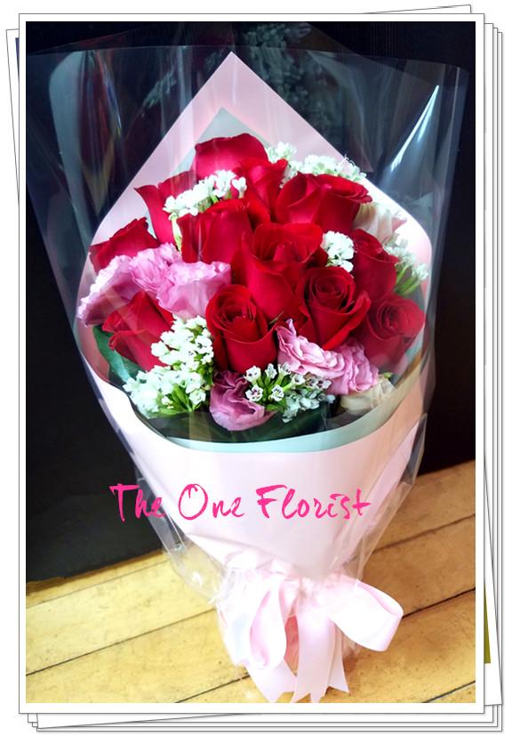 12枝紅玫瑰花束 網上花店 (BQ-126)