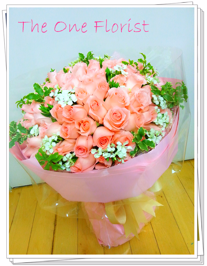 109枝粉紅玫瑰花束 網上花店 (BQ-11)