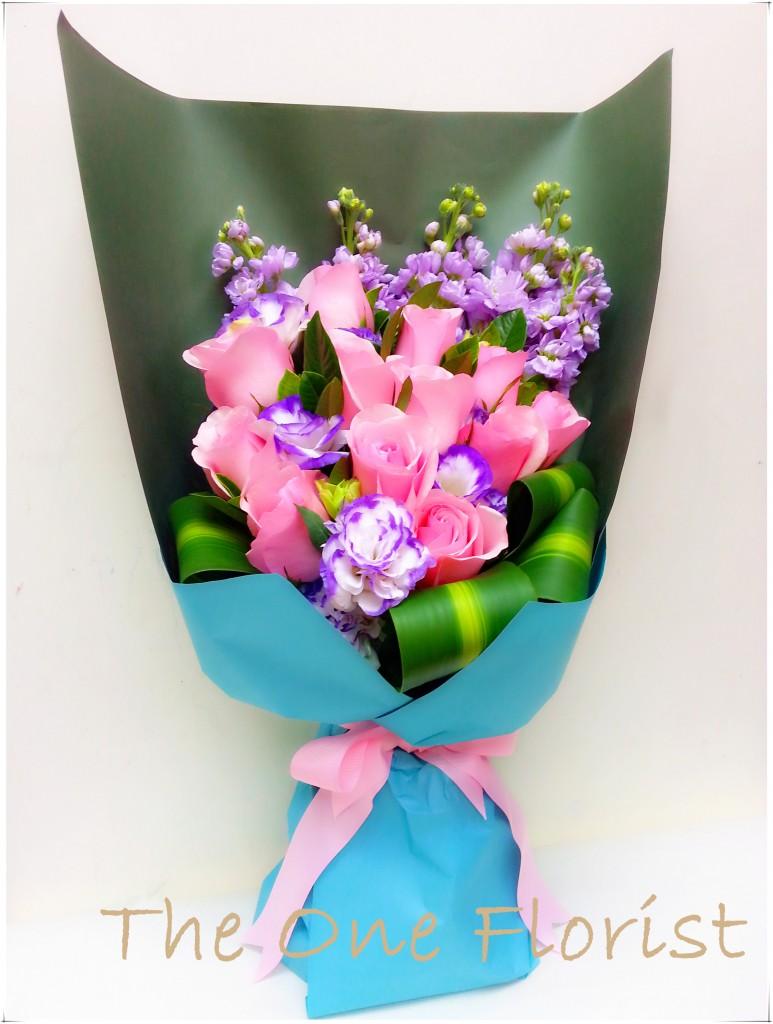12枝粉玫瑰花束 網上花店 (BQ-39)