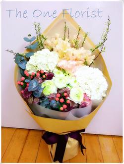 日本香豌豆繡球花束 網上花店 (BQ-41)