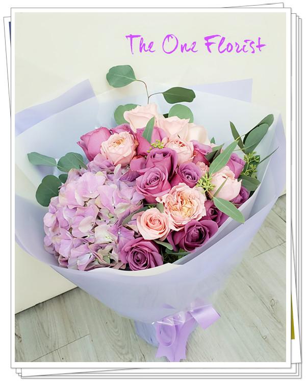 GD-A14 繡球玫瑰花束