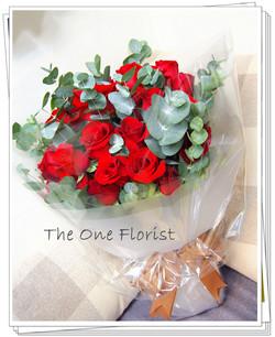 20枝紅玫瑰花束 網上訂花(BQ-80)