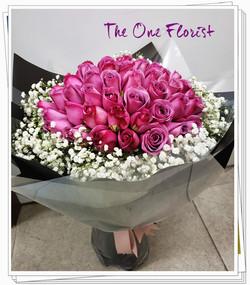 52枝紫玫瑰花束 BQ-134