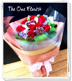 12枝紅玫瑰花束 網上花店 (BQ-118)