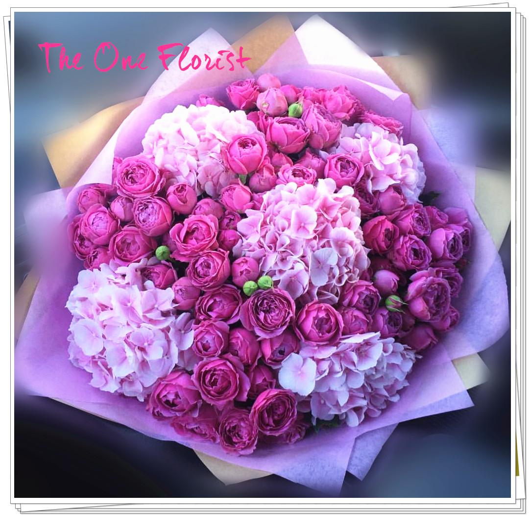荷蘭繡球庭園小玫瑰花束 BQ-147