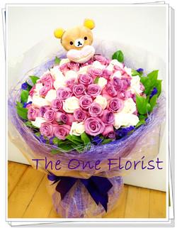 99枝雙色玫瑰求婚花束 網上花店 (BQ-61)