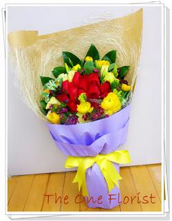 12枝紅玫瑰花束 網上花店 (BQ-57)