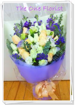 20枝雙色玫瑰花束 訂花花店(BQ-67)