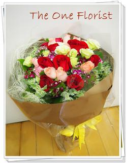 20枝玫瑰花束 網上花店 (BQ-04)