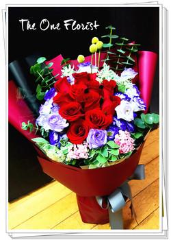 12枝紅玫瑰花束 花店訂花(BQ-115)