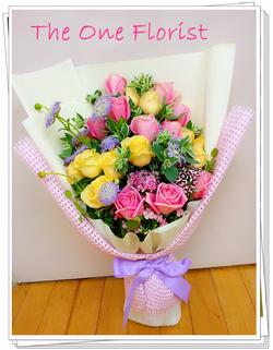 20枝玫瑰花束 網上花店 (BQ-55)